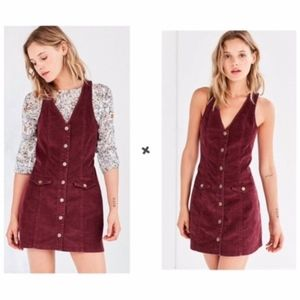 Cooperative Burgundy Button Front Corduroy Dress